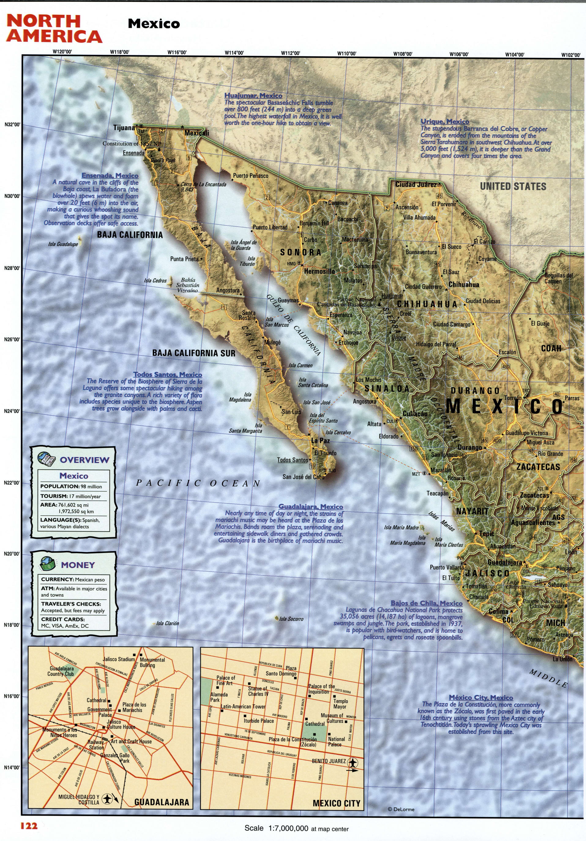 Tourist map of MexicoFree maps of US