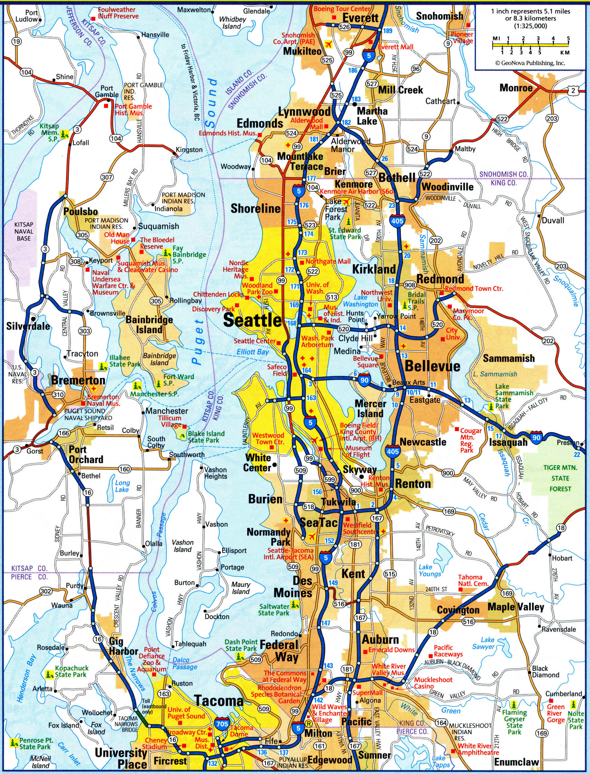 map of Seattle city