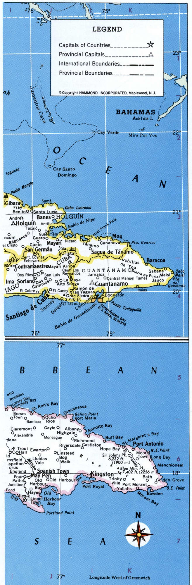 West Indies detailed map