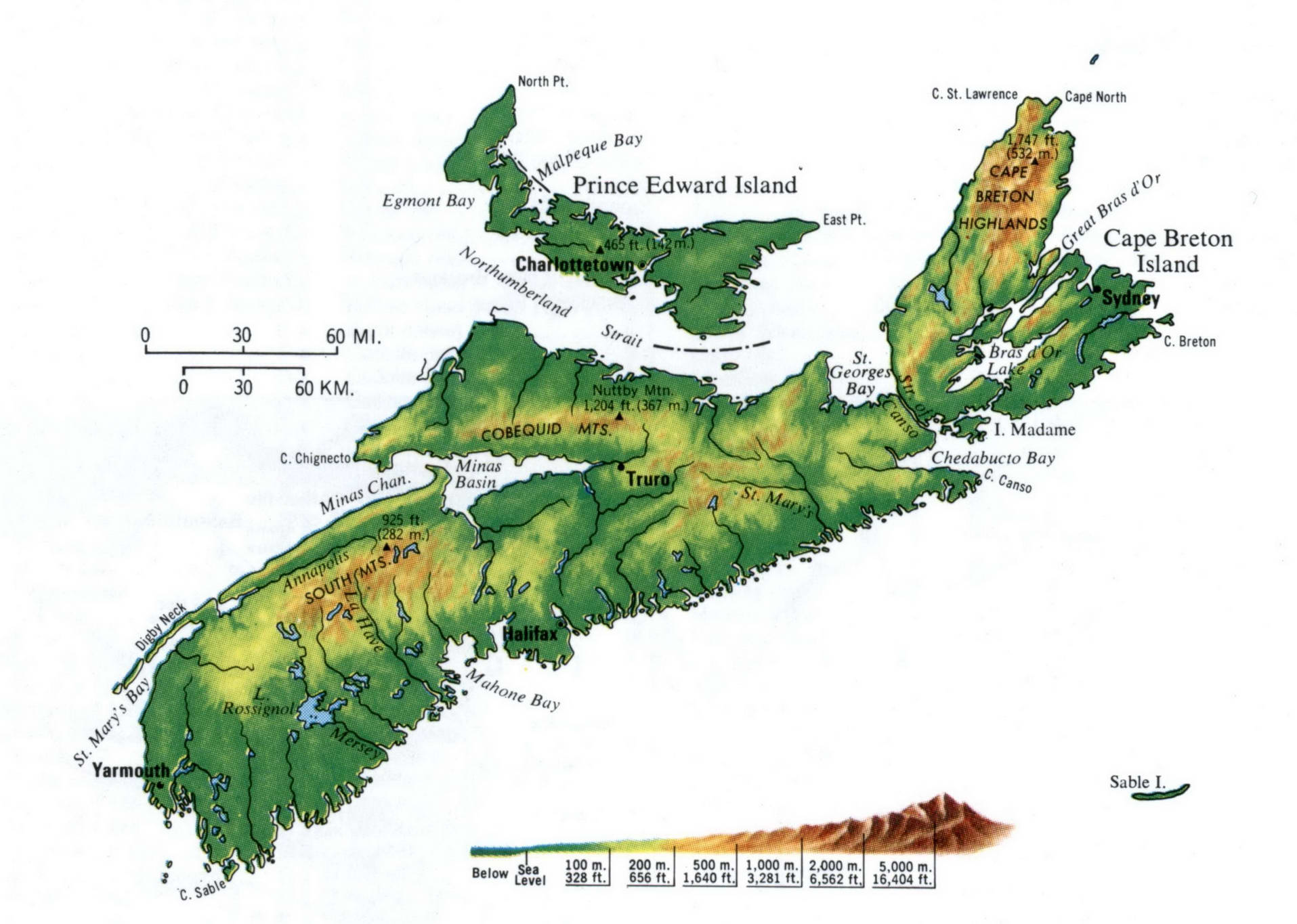 Prince Edward topography map