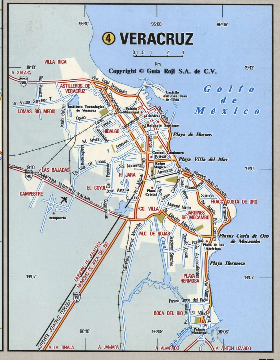 Veracruz city map