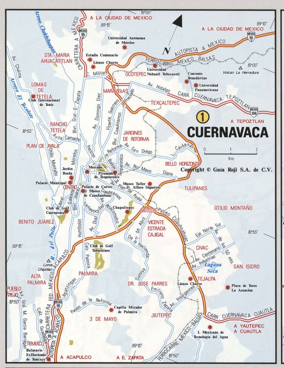 Cuernavaca city map