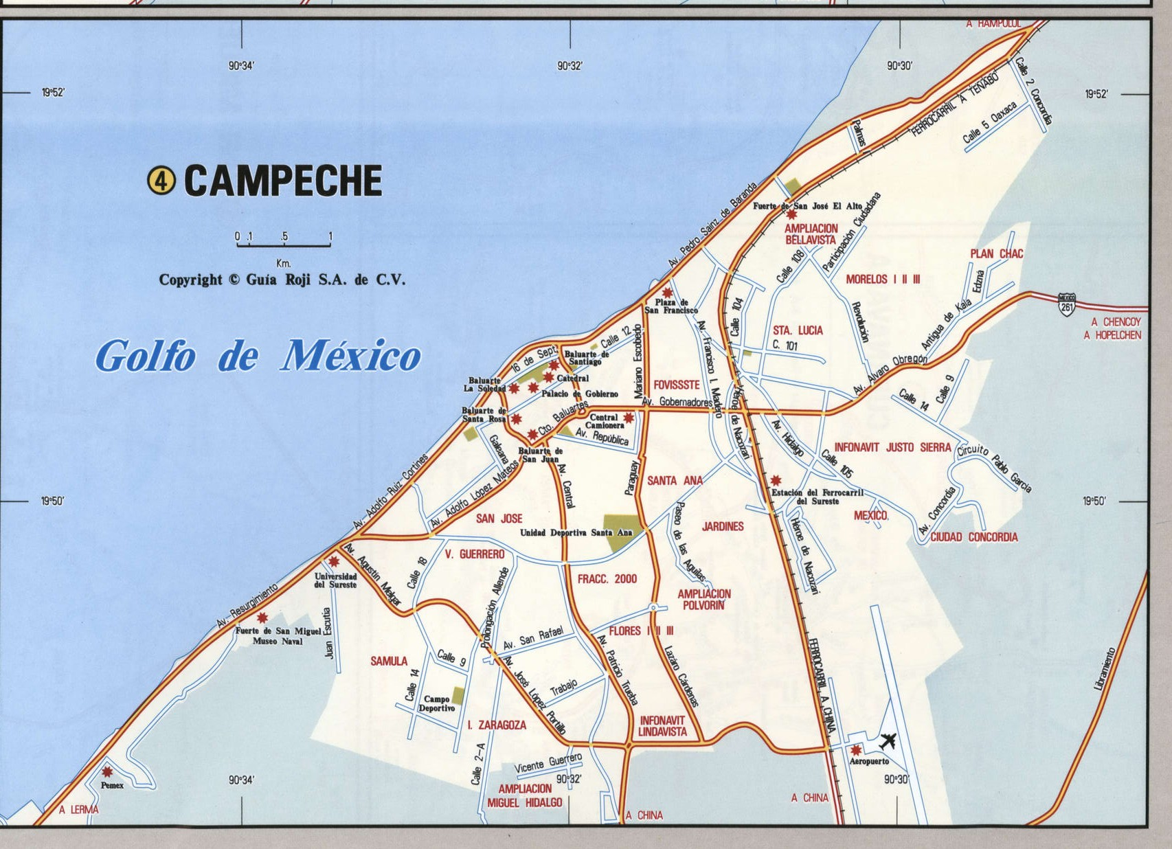 Campeche city map