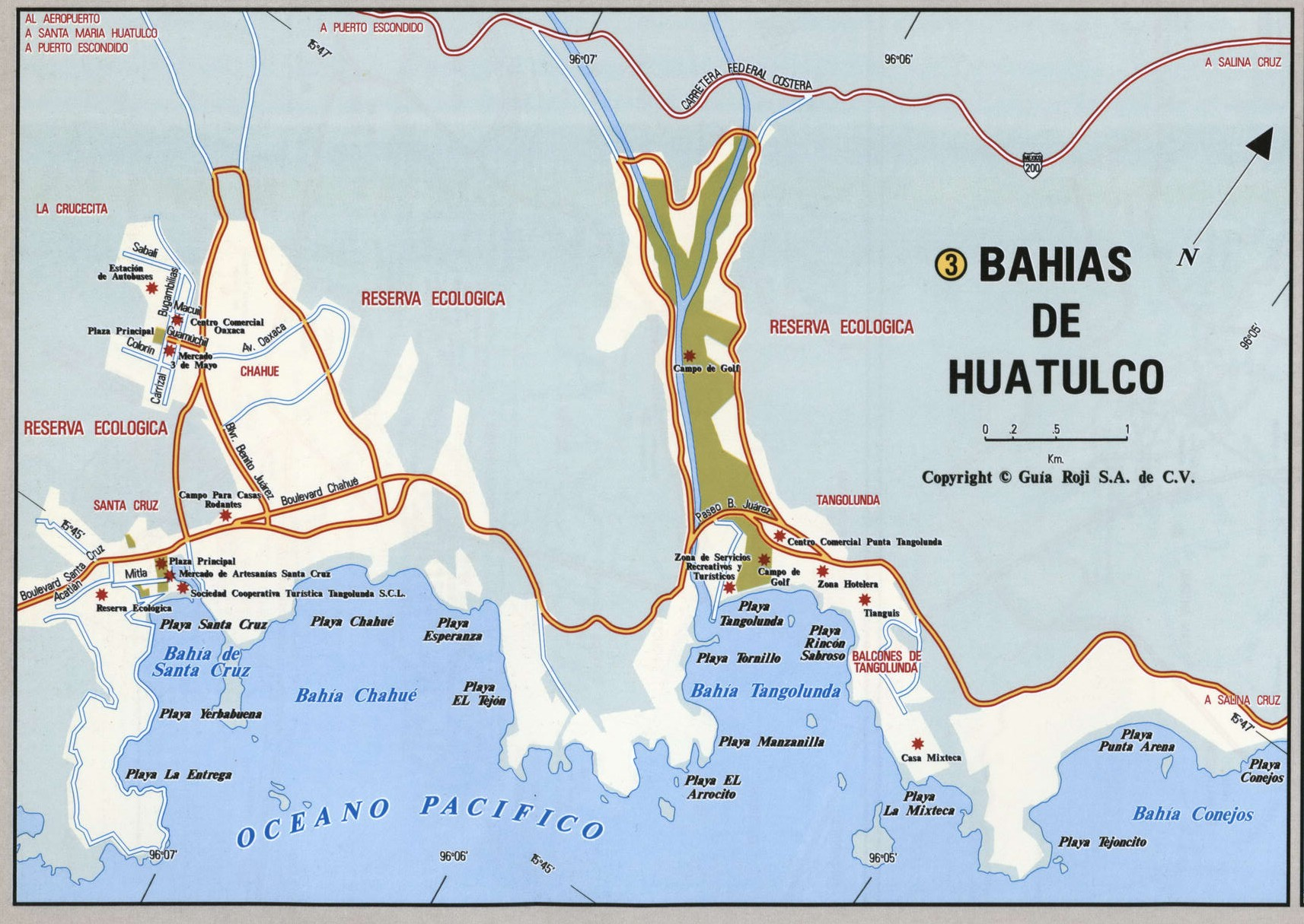 Bahias de Huatulco city map