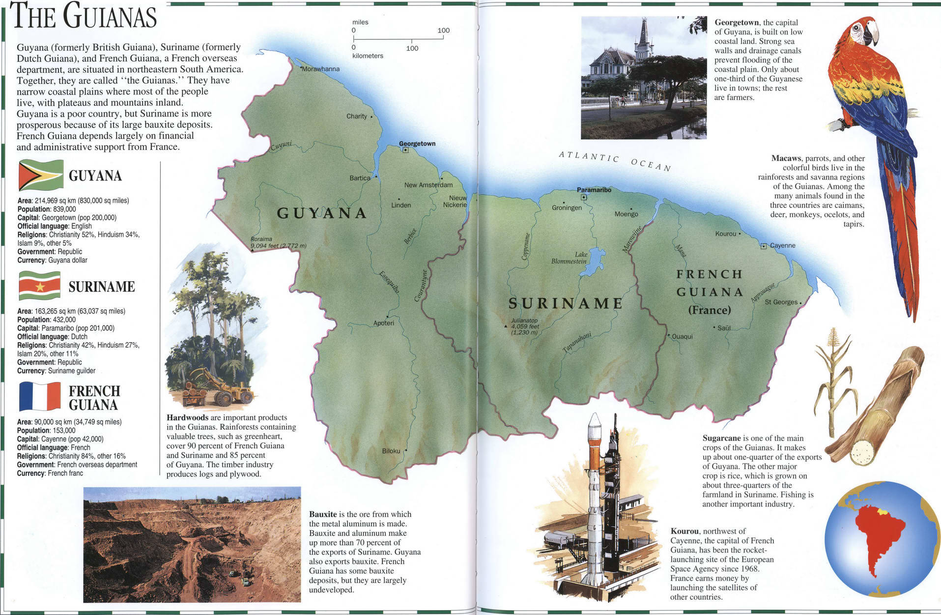 French Guiana geography map