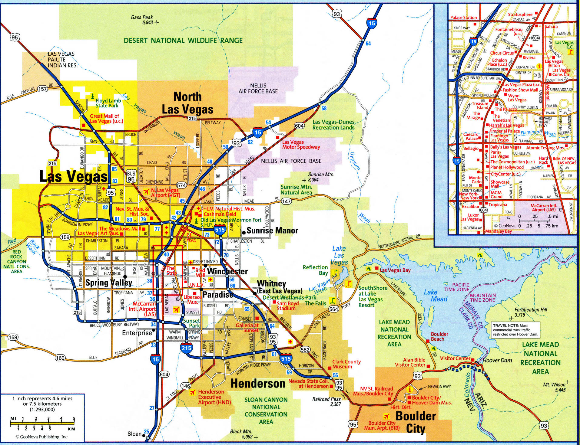 Map of Las Vegas city